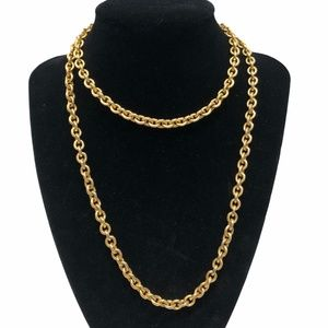 JOAN RIVERS GOLD TONE CABLE CHAIN NECKLACE
